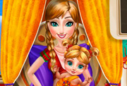 game Anna Frozen Baby Birth