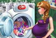 game Anna Pregnant Laundry Day