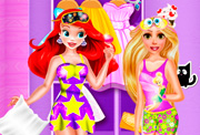 game Ariel And Rapunzel Pijama Party
