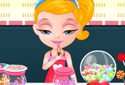 game Baby Barbie Candyshop Slacking