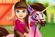 game Baby Barbie Pony Caring
