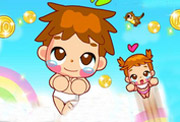 game Baby Girl Cloud Jumping Games