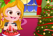 game Baby Hazel Christmas Dressup
