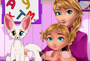 game Baby lessons with Anna Frozen