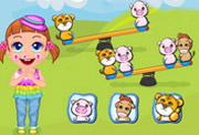 game Baby Seven Animal Seesaw