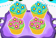 game Bake Colorful Cupcakes