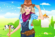 game Barbie Farmer Princess Dressup