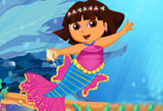 game Cute Dora Mermaid Dressup