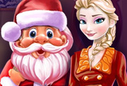 game Elsa and Santa Christmas