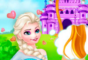 game Elsa Becomes Rapunzel