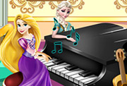 game Elsa & Rapunzel Piano Contest