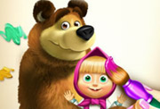 game Masha and the Bear Coloring Book