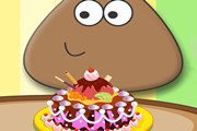 game POU CHOCOLATE CAKE