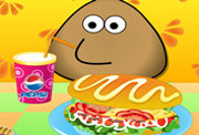 game Pou Cooking Hotdog