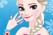 game Queen Elsa Nail Designs