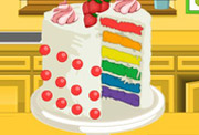 game Rainbow Clown Cake