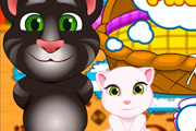 game Tom and Angela Cat Makeup Baby Room